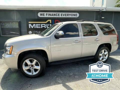 2009 Chevrolet Tahoe for sale at Meru Motors in Hollywood FL