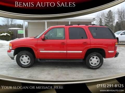 2001 GMC Yukon for sale at Bemis Auto Sales in Crivitz WI
