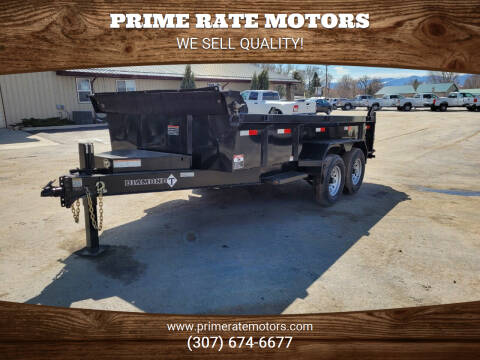 2021 Diamond-T 14' Bumper Pull Dump Trailer for sale at PRIME RATE MOTORS in Sheridan WY