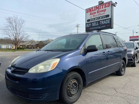 2004 Toyota Sienna for sale at Unlimited Auto Group in West Chester OH