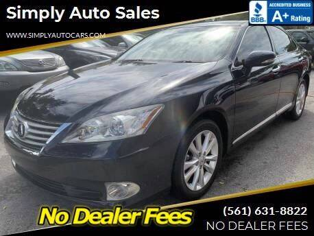 2010 Lexus ES 350 for sale at Simply Auto Sales in Palm Beach Gardens FL