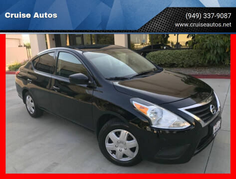 2017 Nissan Versa for sale at Cruise Autos in Corona CA