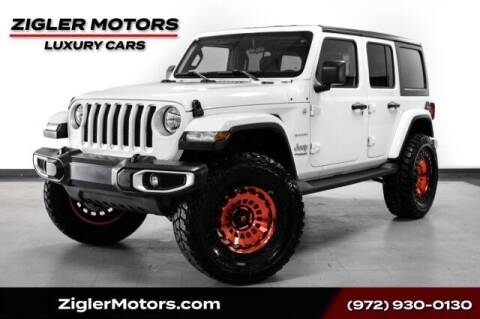 2020 Jeep Wrangler Unlimited for sale at Zigler Motors in Addison TX