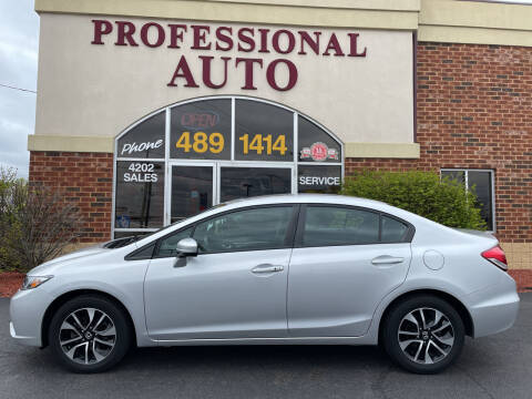 2015 Honda Civic for sale at Professional Auto Sales & Service in Fort Wayne IN