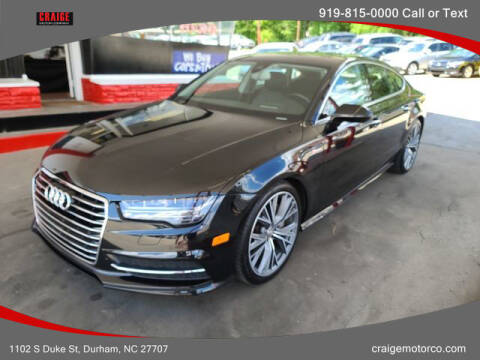2016 Audi A7 for sale at CRAIGE MOTOR CO in Durham NC