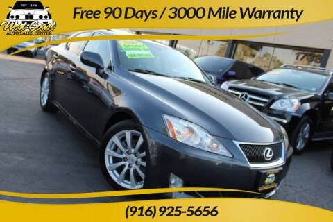 2008 Lexus IS 250 for sale at West Coast Auto Sales Center in Sacramento CA