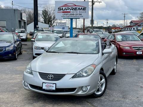 2006 Toyota Camry Solara for sale at Supreme Auto Sales in Chesapeake VA