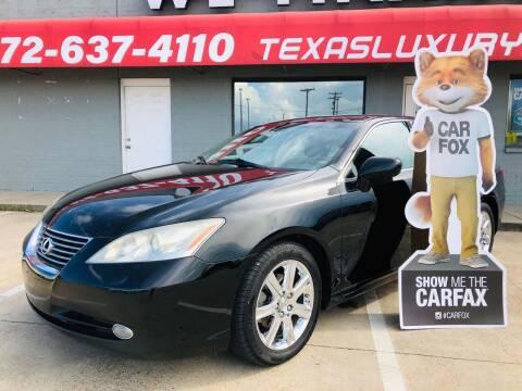 2008 Lexus ES 350 for sale at Texas Luxury Auto in Cedar Hill TX