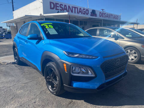 2020 Hyundai Kona for sale at DESANTIAGO AUTO SALES in Yuma AZ