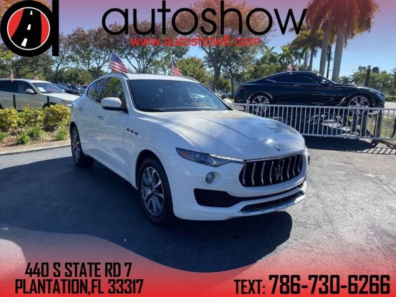 2017 Maserati Levante for sale at AUTOSHOW SALES & SERVICE in Plantation FL