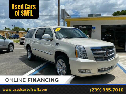 2012 Cadillac Escalade ESV for sale at Used Cars of SWFL in Fort Myers FL