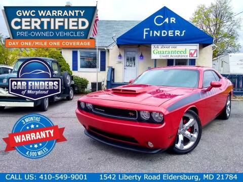2012 Dodge Challenger for sale at CAR FINDERS OF MARYLAND LLC - Certified Cars in Eldersburg MD