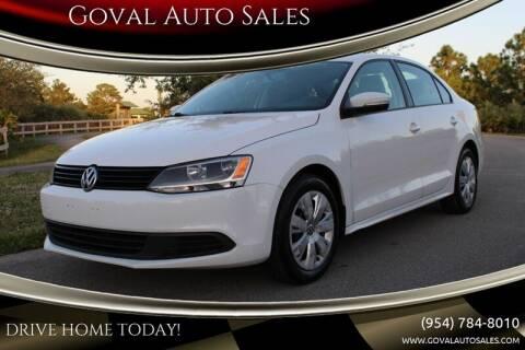 2014 Volkswagen Jetta for sale at Goval Auto Sales in Pompano Beach FL