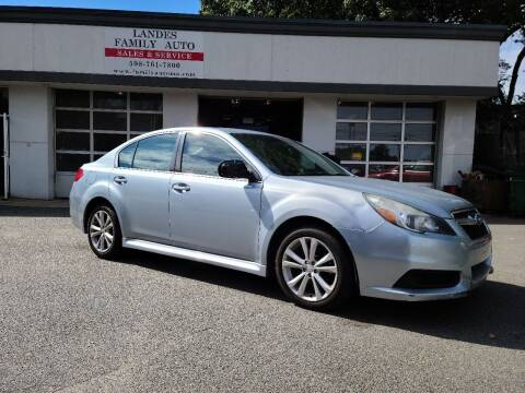 2013 Subaru Legacy for sale at Landes Family Auto Sales in Attleboro MA