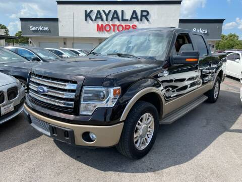 2013 Ford F-150 for sale at KAYALAR MOTORS in Houston TX