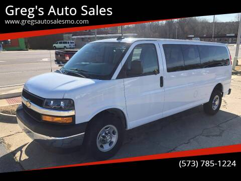 2018 Chevrolet Express Passenger for sale at Greg's Auto Sales in Poplar Bluff MO