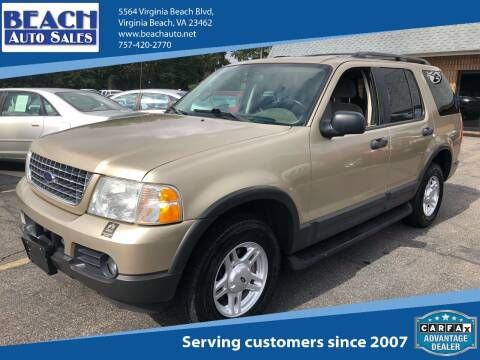 2003 Ford Explorer for sale at Beach Auto Sales in Virginia Beach VA