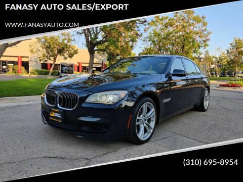 2012 BMW 7 Series for sale at FANASY AUTO SALES/EXPORT in Yorba Linda CA