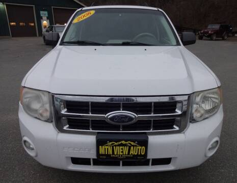 2008 Ford Escape for sale at MOUNTAIN VIEW AUTO in Lyndonville VT