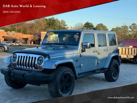 2012 Jeep Wrangler Unlimited for sale at DAB Auto World & Leasing in Wake Forest NC