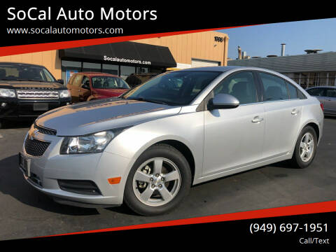2014 Chevrolet Cruze for sale at SoCal Auto Motors in Costa Mesa CA