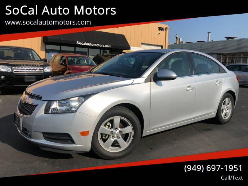2014 Chevrolet Cruze for sale at SoCal Auto Motors in Costa Mesa CA