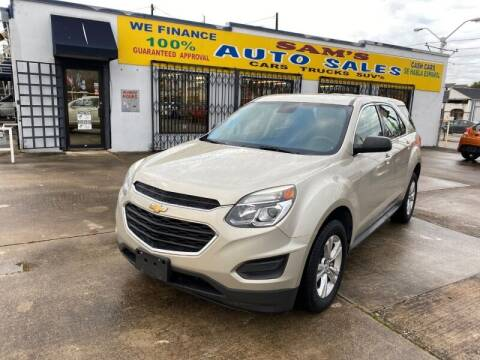 2016 Chevrolet Equinox for sale at Sam's Auto Sales in Houston TX