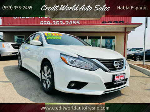 2016 Nissan Altima for sale at Credit World Auto Sales in Fresno CA