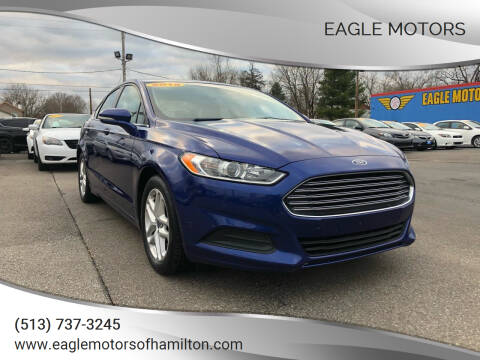2015 Ford Fusion for sale at Eagle Motors in Hamilton OH