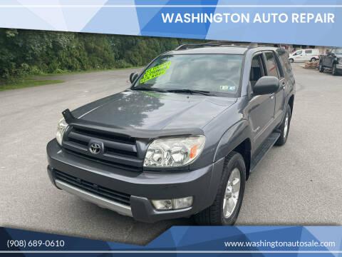 2004 Toyota 4Runner for sale at Washington Auto Repair in Washington NJ
