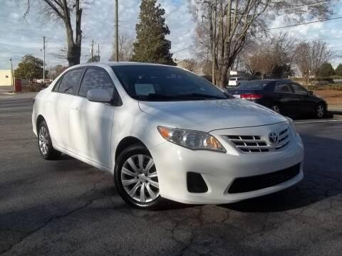2013 Toyota Corolla for sale at CORTEZ AUTO SALES INC in Marietta GA