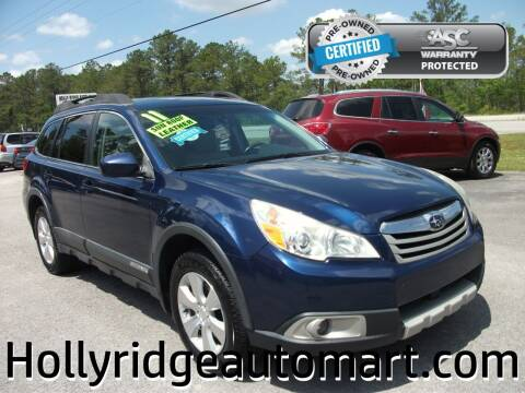2011 Subaru Outback for sale at Holly Ridge Auto Mart in Holly Ridge NC