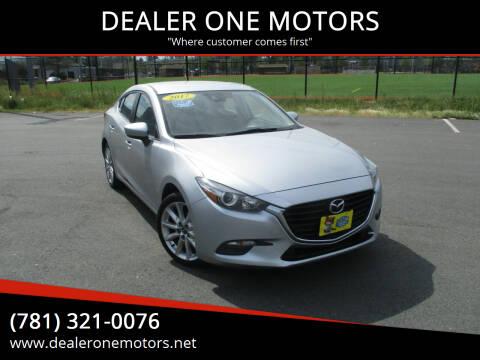 2017 Mazda MAZDA3 for sale at DEALER ONE MOTORS in Malden MA