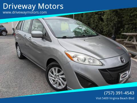 2012 Mazda MAZDA5 for sale at Driveway Motors in Virginia Beach VA