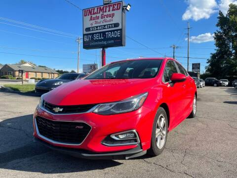 2016 Chevrolet Cruze for sale at Unlimited Auto Group in West Chester OH