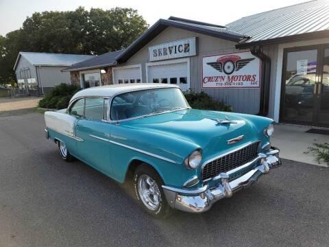1955 Chevrolet Bel Air for sale at CRUZ'N MOTORS - Classics in Spirit Lake IA