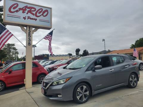 2018 Nissan LEAF for sale at CARCO SALES & FINANCE - CARCO OF POWAY in Poway CA