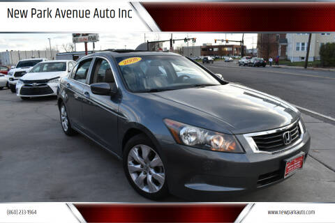 2008 Honda Accord for sale at New Park Avenue Auto Inc in Hartford CT
