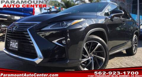 2018 Lexus RX 350 for sale at PARAMOUNT AUTO CENTER in Downey CA