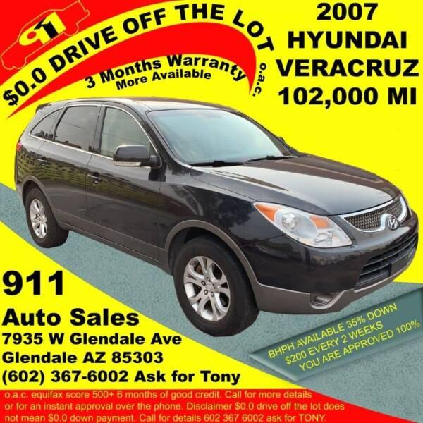 2007 Hyundai Veracruz for sale at 911 AUTO SALES LLC in Glendale AZ
