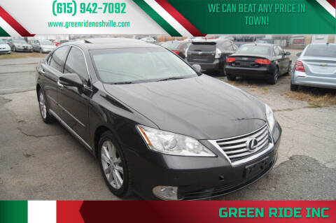 2012 Lexus ES 350 for sale at Green Ride Inc in Nashville TN