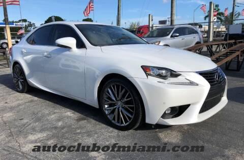 2015 Lexus IS 250 for sale at AUTO CLUB OF MIAMI in Miami FL