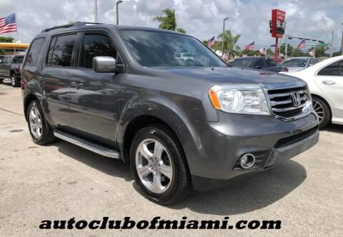2013 Honda Pilot for sale at AUTO CLUB OF MIAMI, INC in Miami FL