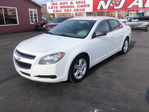 2011 Chevrolet Malibu for sale at N & J Auto Sales in Warsaw IN