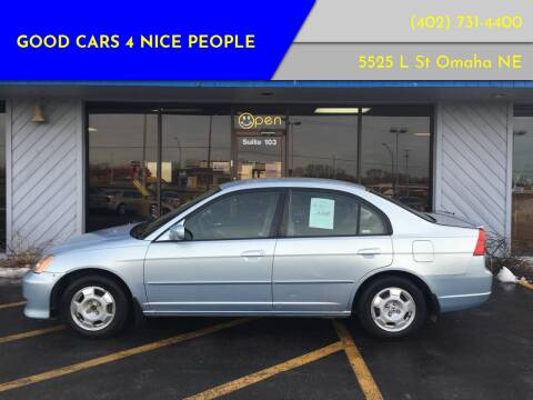 2003 Honda Civic for sale at Good Cars 4 Nice People in Omaha NE