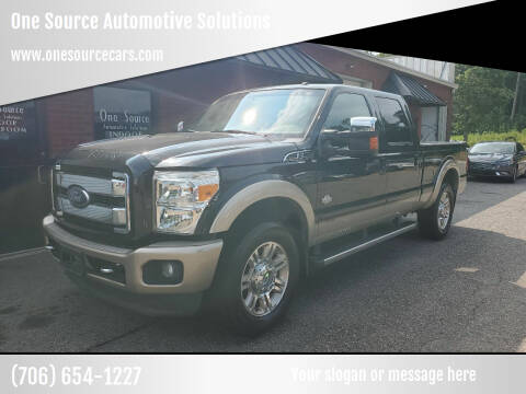 2012 Ford F-250 Super Duty for sale at One Source Automotive Solutions in Braselton GA