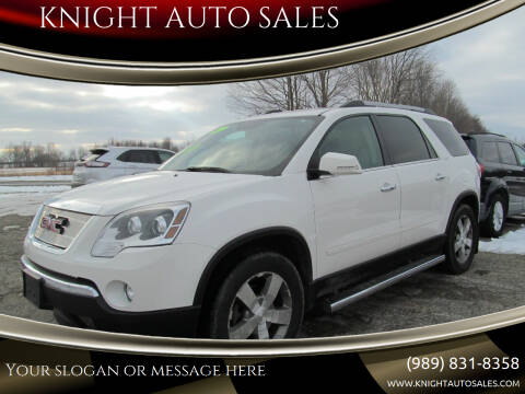 2012 GMC Acadia for sale at KNIGHT AUTO SALES in Stanton MI