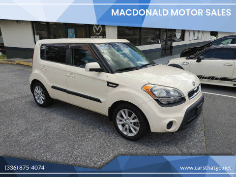 2012 Kia Soul for sale at MacDonald Motor Sales in High Point NC