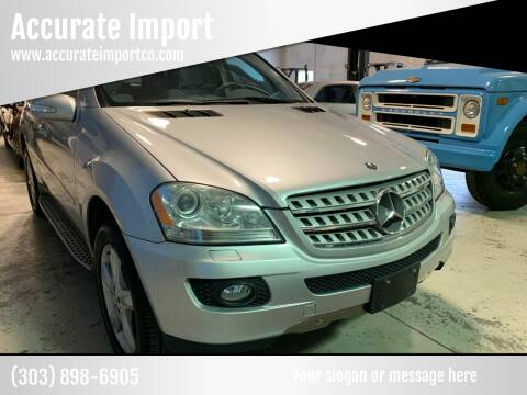 2008 Mercedes-Benz M-Class for sale at Accurate Import in Englewood CO