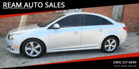 2012 Chevrolet Cruze for sale at REAM AUTO SALES in Enid OK